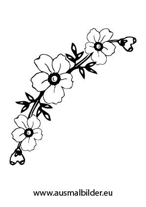 Ausmalbild Blumenkranz Vorlagen Ausmalen Blumen Und Blumen
