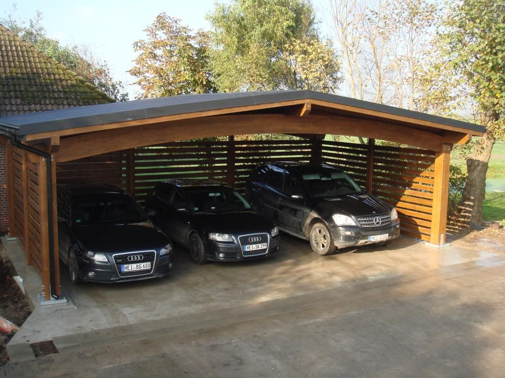 Wiata gara owa carport 9m pinteres for Garage with carport designs