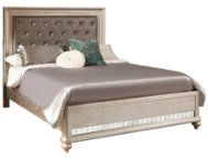 Platinum King Upholstered Bed - Art Van Furniture