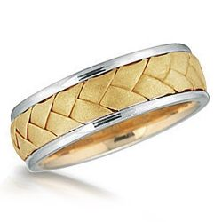 The first wedding rings of woven and braided reeds and rushes were