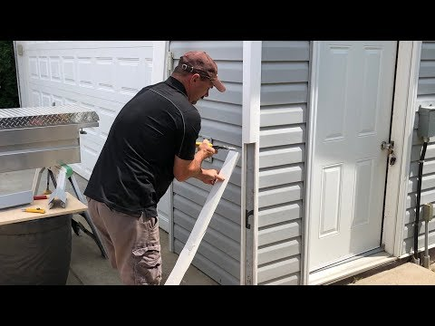 How To Replace A Vinyl Siding Corner Youtube Vinyl Siding Vinyl Siding Repair Shed Storage