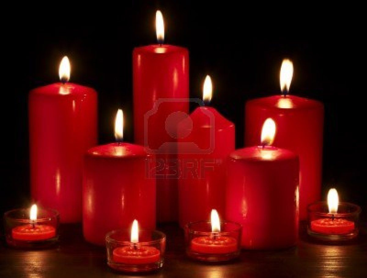 red candle black background - photo #33