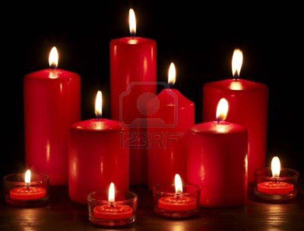 Group of burning candles on black background. #123rf # ...