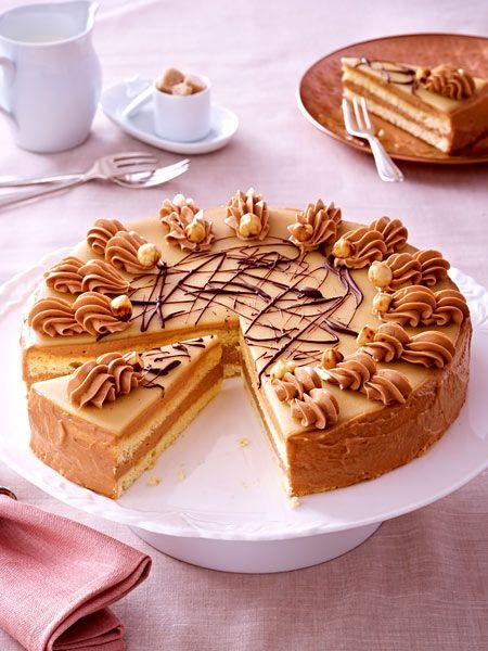 NougatButtercremeTorte  Rezept  Tolle Torten