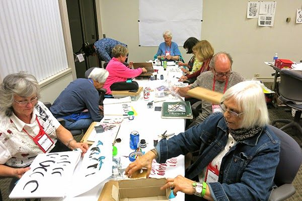 """Letters California Style 2015 -conference (Los Angeles), this photo is from my classroom. I did teach """"Pen Crafting"""" 2014 and 2015 over there. What a wonderful time!"""