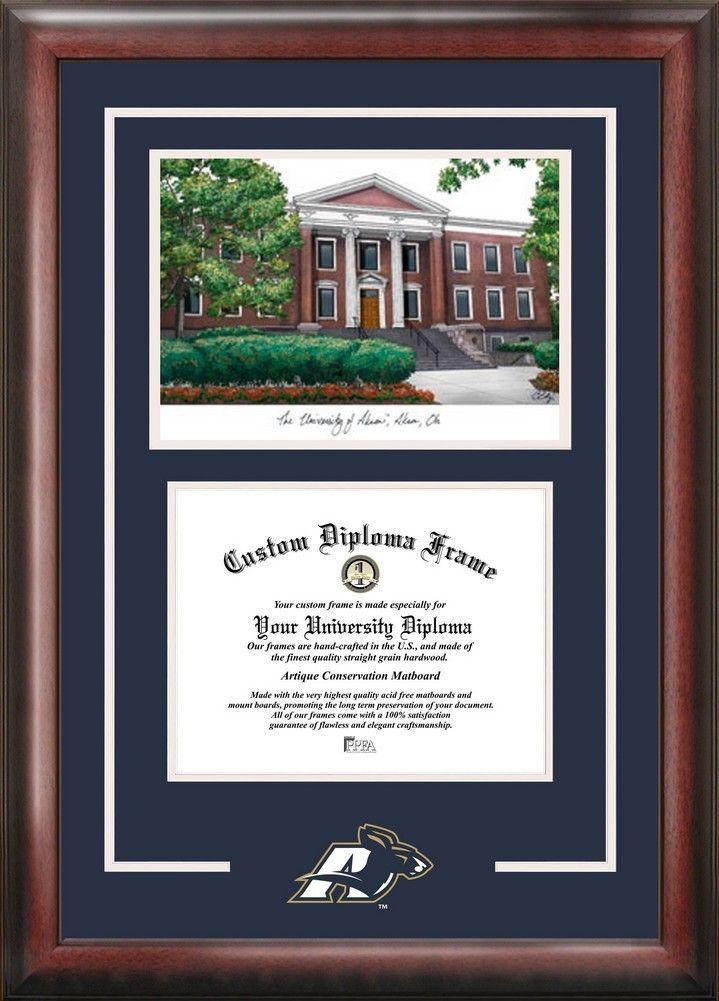 University of Akron Zips Alumni Mahogany Diploma Frame | Zip