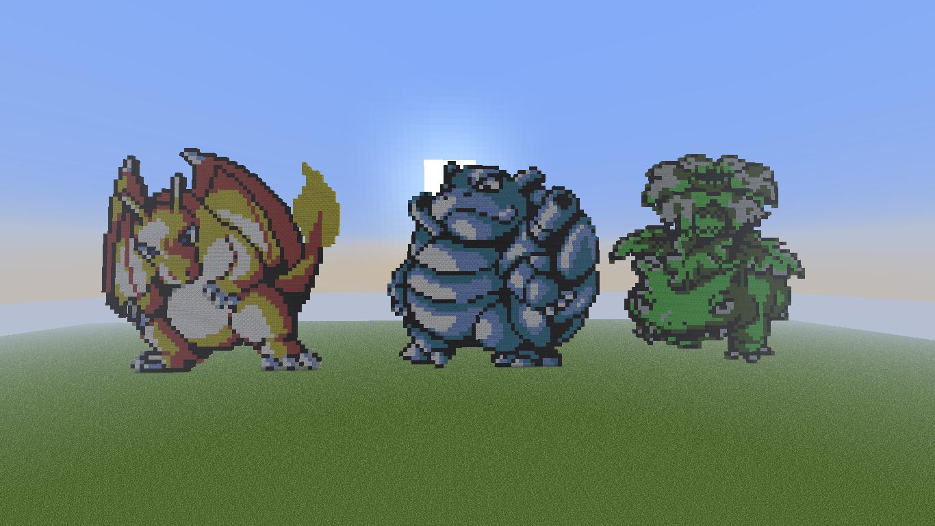Awesome Minecraft Pixel Art Pokemon