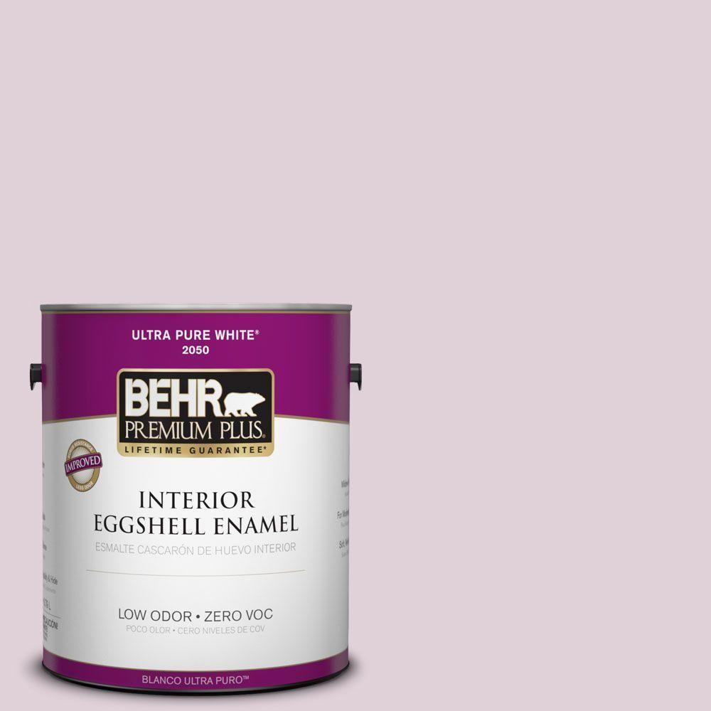 BEHR Premium Plus 1-gal. #690E-2 Heather Rose Zero VOC Eggshell Enamel Interior Paint