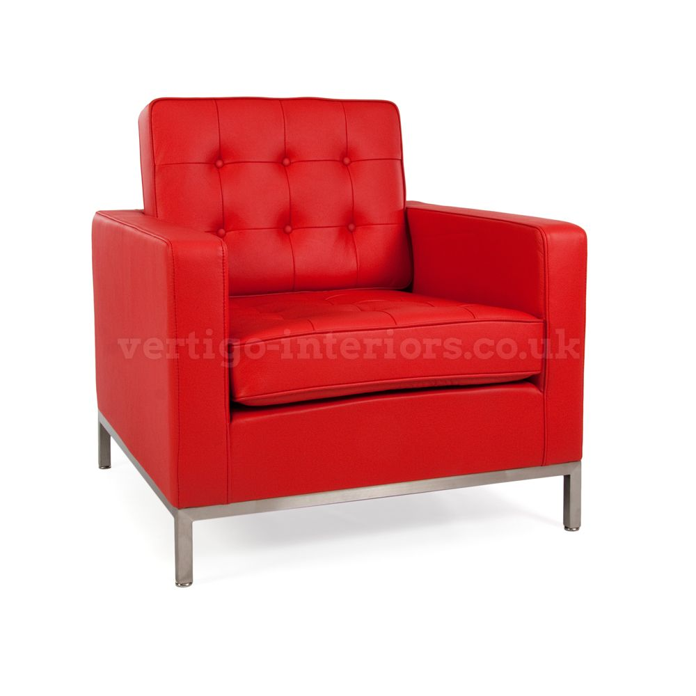 Wonderful Image Of The Design Furniture Knoll Lounge Chair   Red