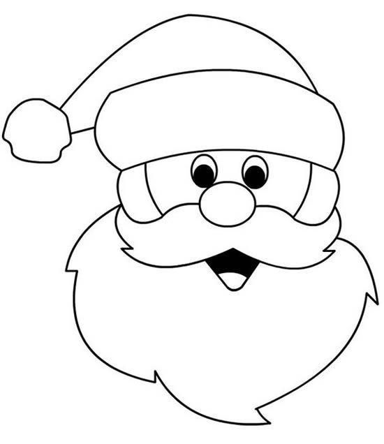 Papai Noel De Feltro Com Moldes Papai Noel Para Colorir Desenho