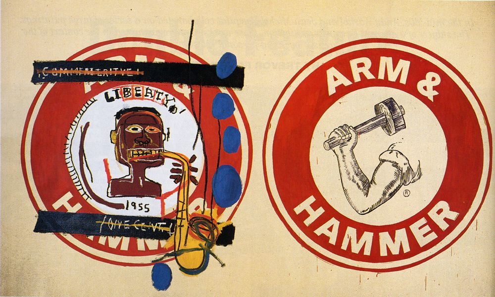 Jean-Michel Basquiat and Andy Warhol, Arm and Hammer II, 1985