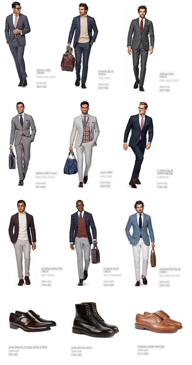 The Suitsupply Online Outlet is OPEN