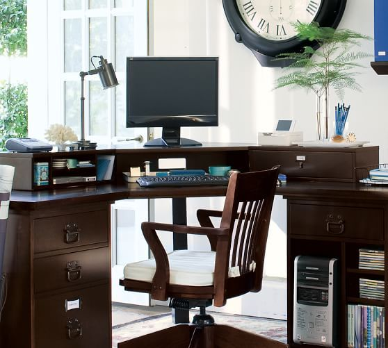 office furniture pottery barn. bedford smart technology corner desk hutch pottery barn home office furniturehome furniture