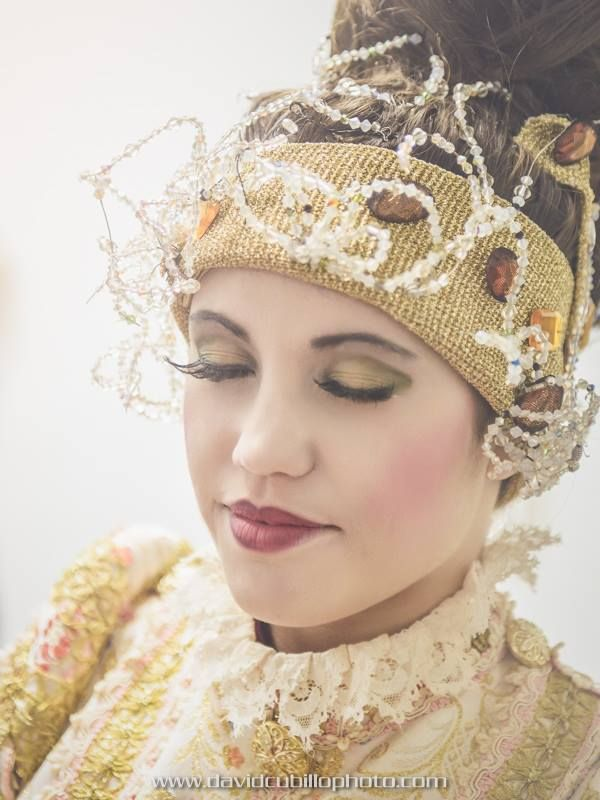 Detalle de maquillaje barrocon por Nuria Espinosa