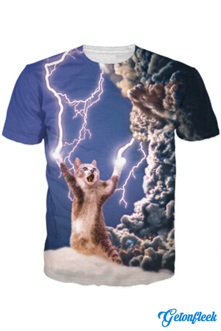 49ae2278 Lightning Cat Tee - Shop our entire collection of Cat Apparel!  www.getonfleek.com