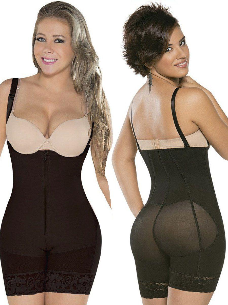 e99cef9f246 Topmelon Women s Full Body Shaper Corset Briefer Lace Bodysuit Slimming  Shapewear
