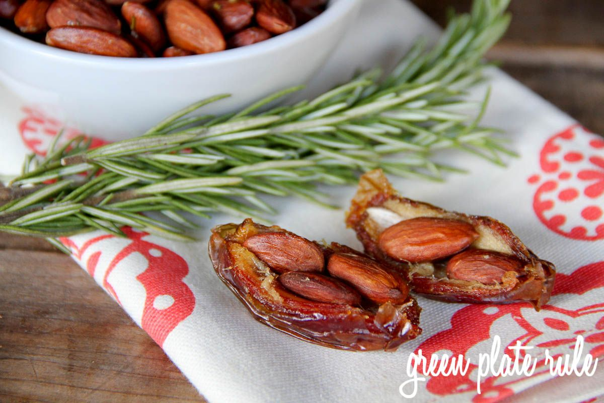 "Almond Stuffed Dates could also do pecans.. tastes just like pecan pie! This is one of my go-to snacks. Just like eating candy! Better for you and tastes SO good! ""Natures CANDY!"""