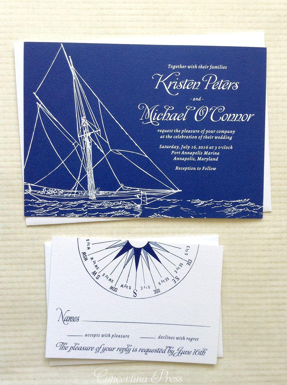 Image of Boat Wedding Invitation - Sailboat Wedding Invitation ...