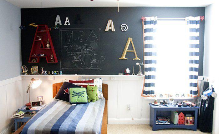 Schöne Kinderzimmer Tafel Wo Das Kind Schreiben Und Malen Kann über Dem  Bett Fenster Deko