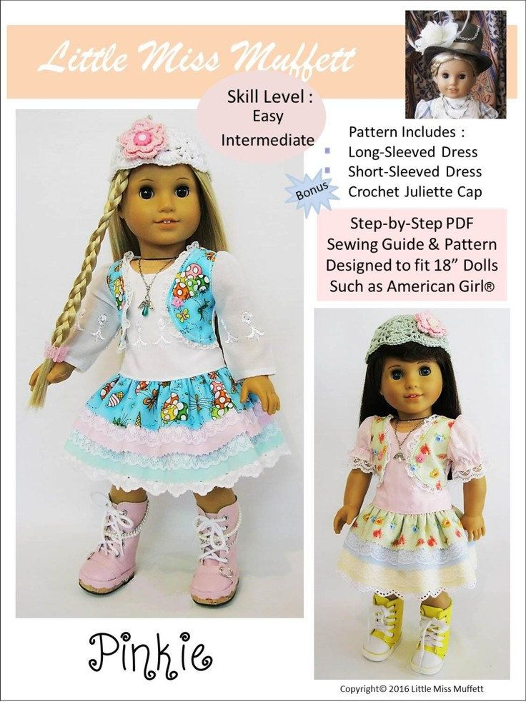 Pixie Faire Little Miss Muffett Pinkie Doll Clothes Pattern for 18 ...