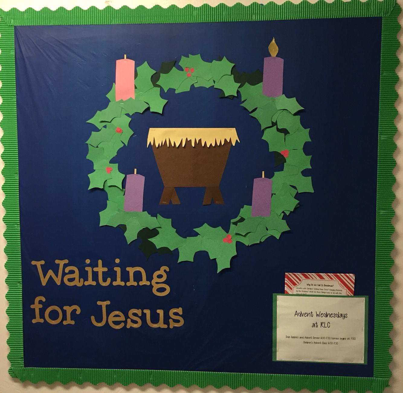 Advent Wreath Christmas Bulletin Board For Sunday School