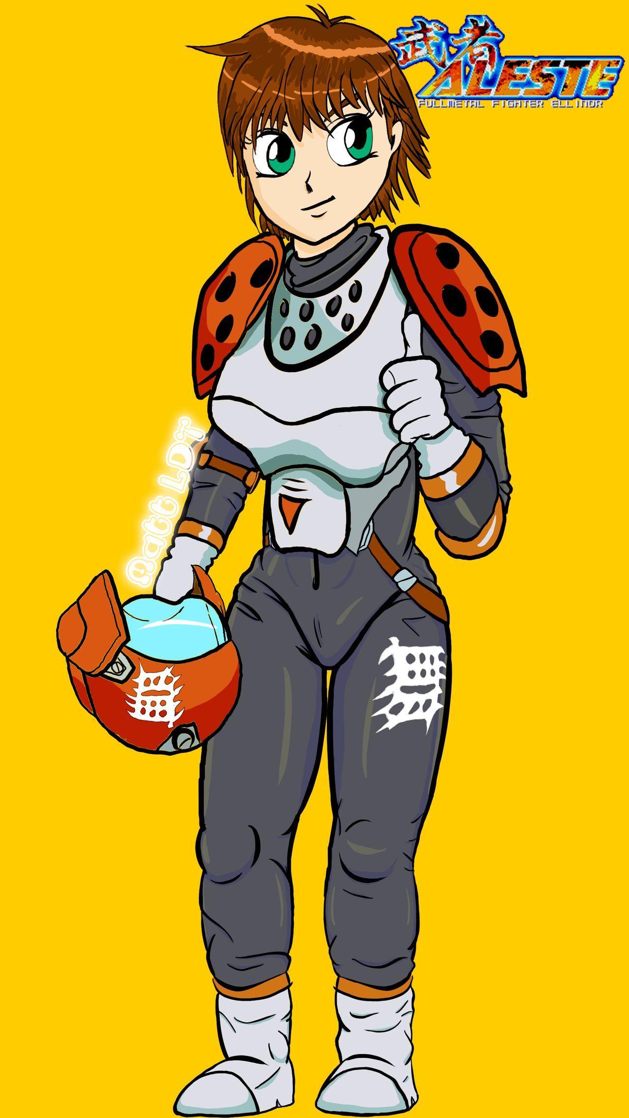 Ellinor From Musha Aleste On Mega Drive Genesis By Mattldt On Deviantart Cool Gifs Fire Emblem Character
