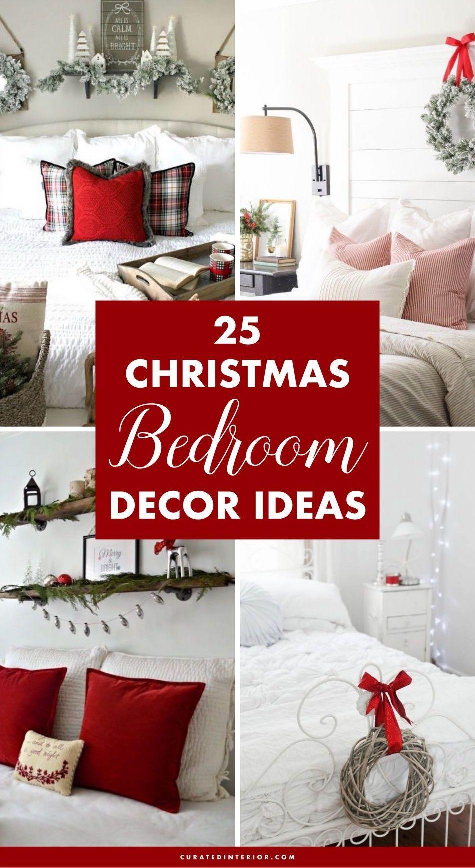 25 Christmas Bedroom Decor Ideas For A Cozy Holiday Bedroom Christmas Decorations Bedroom Christmas Room Decor Holiday Bedroom