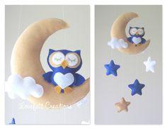 READY TO SHIP Baby mobile Owl mobile Crib door LoveFeltXoXo