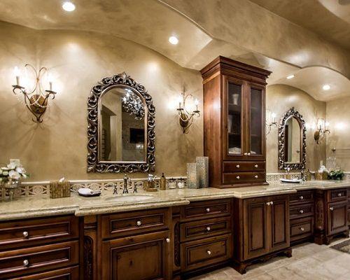 Customize Contemporary Tuscany Bathroom Cabinets Decor