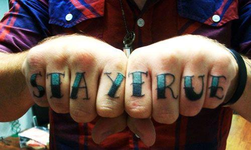 639416b55 UV inspiration Knuckle Tattoos, All Tattoos, Stay True, Finger, Tattoo  Designs,