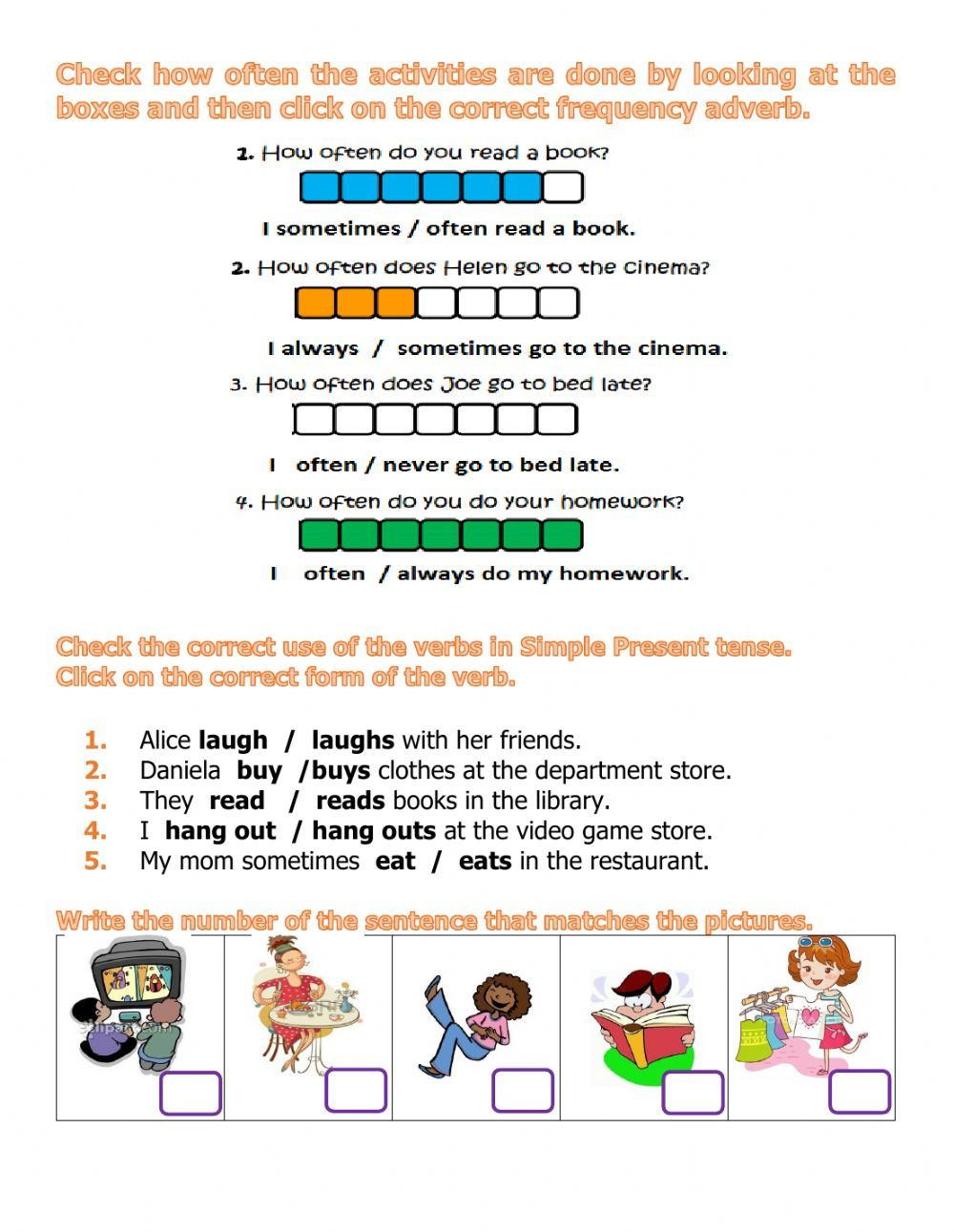 Adverbs Of Frequency Interactive And Downloadable Worksheet You Can Do The Exerc English Worksheets For Kids Adverbs Lesson Reading Comprehension Kindergarten [ 1291 x 1000 Pixel ]