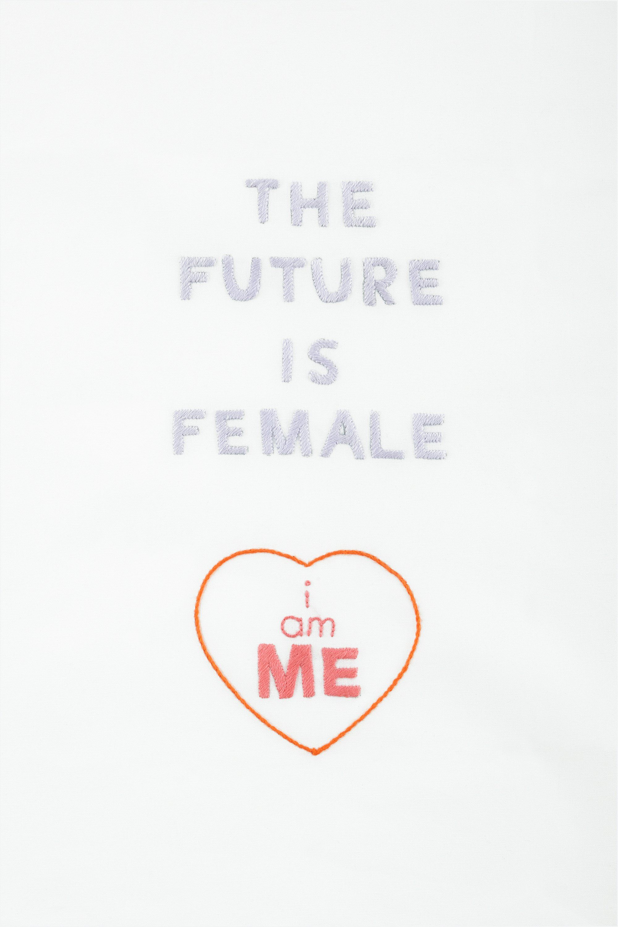 Girl power the future is female - motif broderie | Quotes I like ...