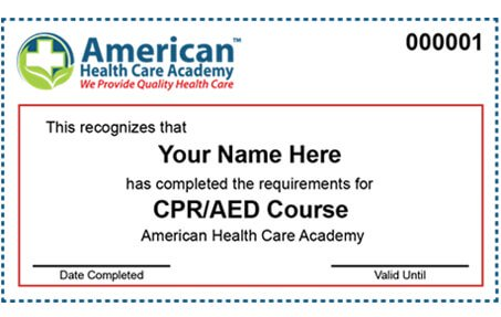 Cpr First Aid Training Classes Bls Certification Online American Health Care Academy American Healthcare American Health Cpr Certification
