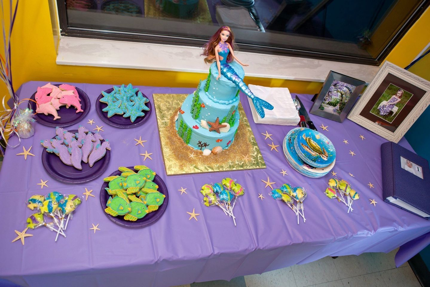My daughter's very special 5th Birthday.(Mermaid themed