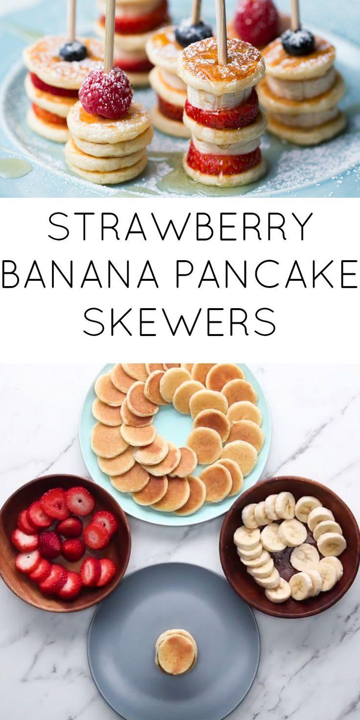 FOOD // Strawberry Banana Pancake Skewers