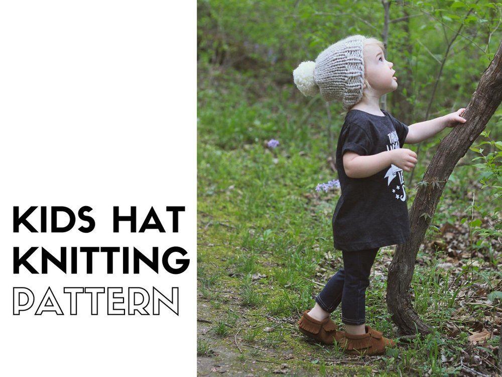 Hermosa Toddler Beanie Hat Knitting Pattern Bandera - Manta de Tejer ...