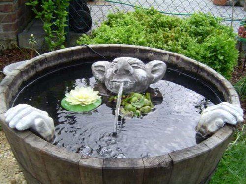 Steinfiguren Garten steinfiguren wasserspeier garten deko gartenfigur koi teich