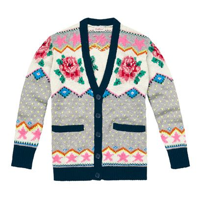 CATH KIDSTON- Fair isle knit roses print cardigan | FASHION ...