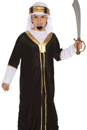 55bd0622fbe7 Amazon.com: Forum Novelties Arabian Sultan Child's Costume, Medium: - $23 -  Royal Guard Costume