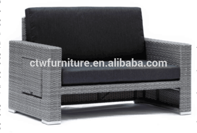 De aluminio de mimbre al aire libre sofá conjunto de salón-en ...