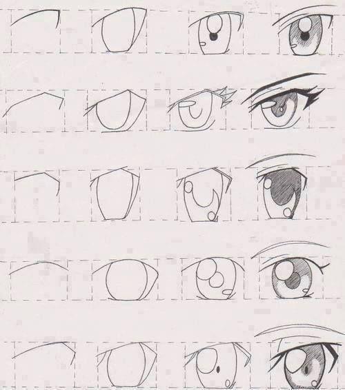 Dibujar anime paso a paso para principiantes buscar con - Ojos ahumados para principiantes ...