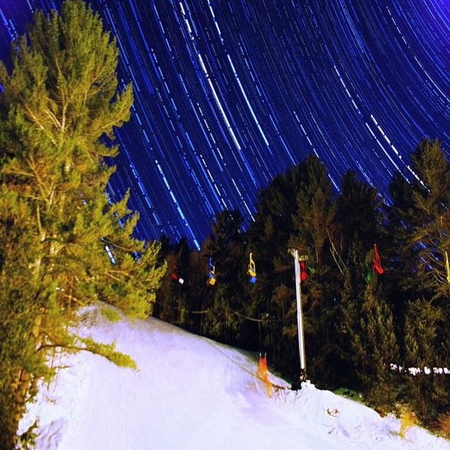 Valley Trails - This photo was captured at Lost valley ski resort in Auburn Maine. It was taken at 3 am in the morning during a passover of the Polaris Circle.  #worldbestshot_ig #jaysodd #skiing #beauty #newengland #majesticearth #startrails #nightshots #myexpedition #contest