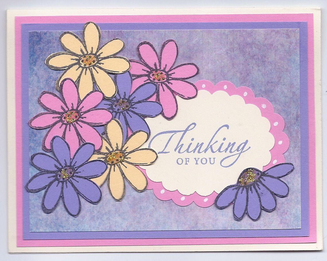 CTMH Daisy stamps, SU Sincere Salutations, Spellbinders dies