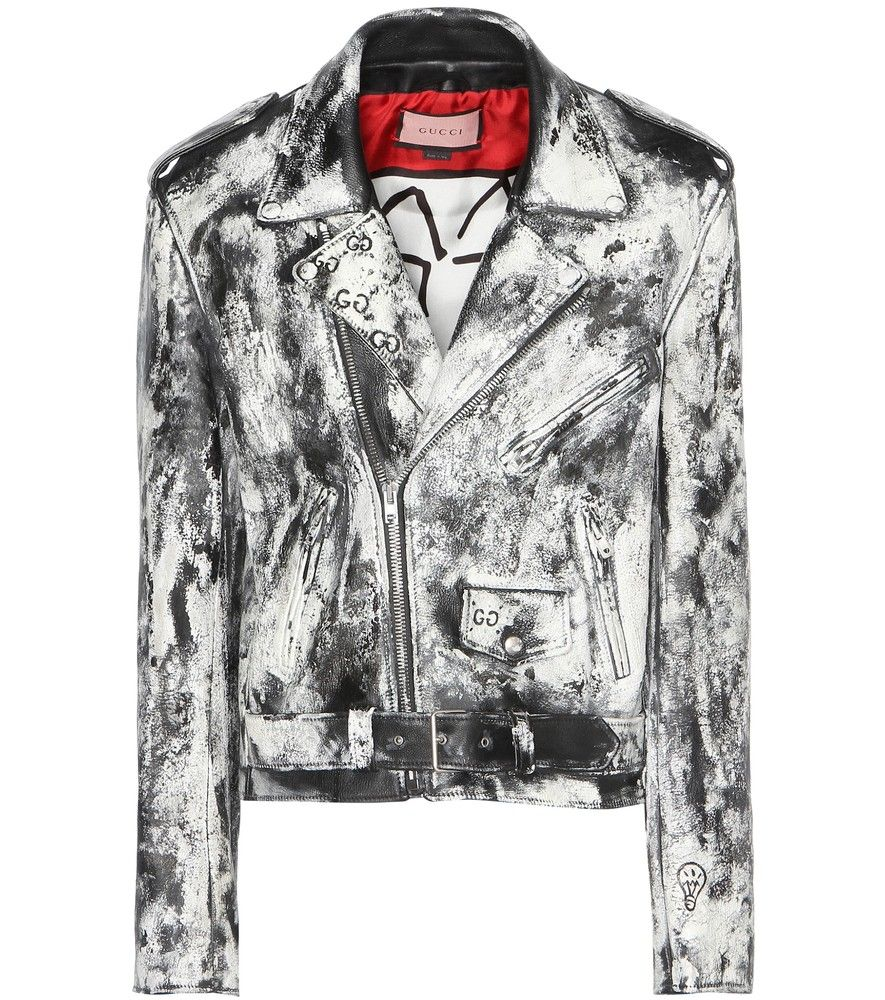 a82c9a6c4 Gucci - GucciGhost painted leather jacket with appliqué - Gucci  collaborated with Brooklyn-based artist Trouble Andrew this season to blur  the lines between ...