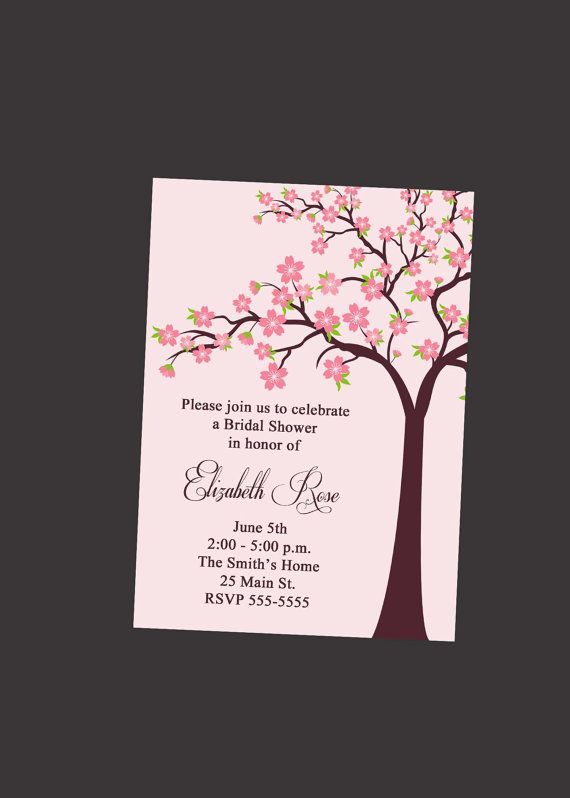 bridal shower invitation with cherry blossom by simplyprintable 1200