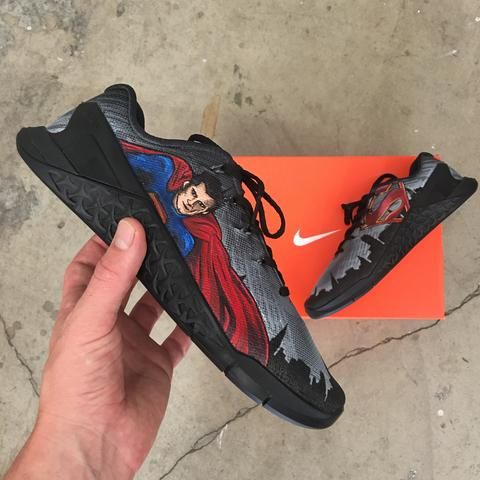 Hand Painted Wonder Woman Themed NOBULL Trainers