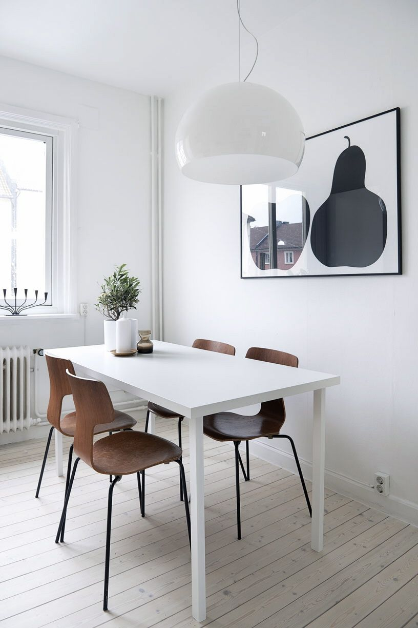Another Lovely Home In Goteborg Scandinavian Dining Room Dining Room Wall Decor Dining Room Design