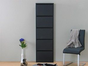 bild xxl schuhschrank plaza schuhkipper schuhe metall flur schrank kipper schwarz wohnung. Black Bedroom Furniture Sets. Home Design Ideas
