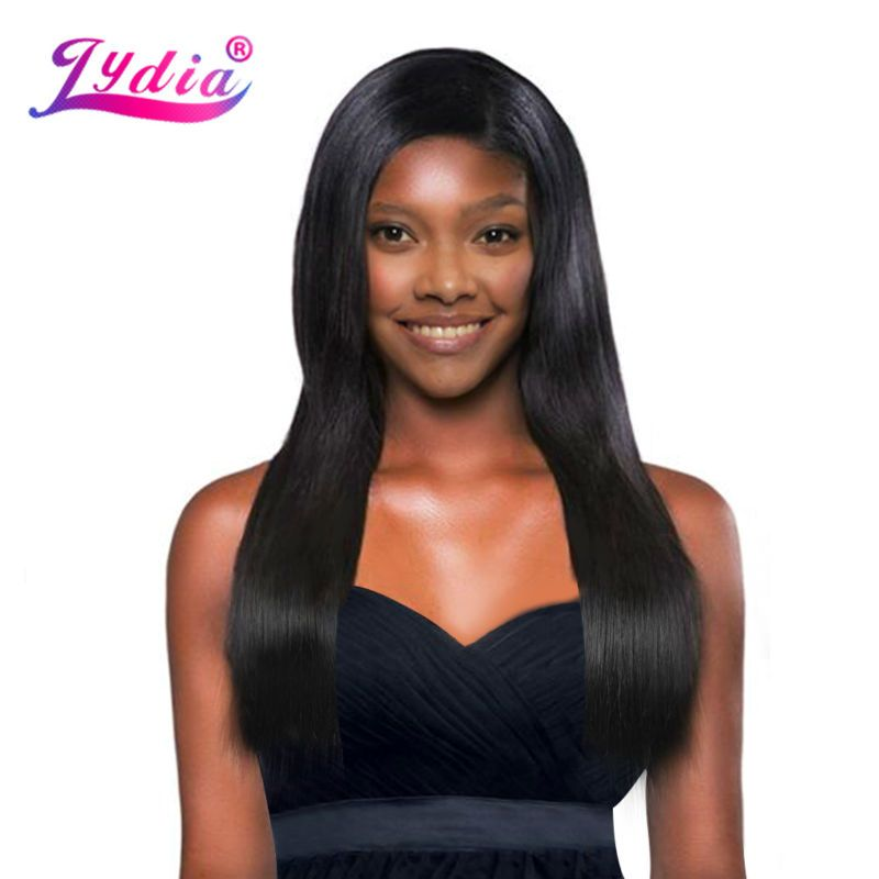 Lydia Synthetic Hair Extension 3pcslot Hair Weaving Straight Yaki