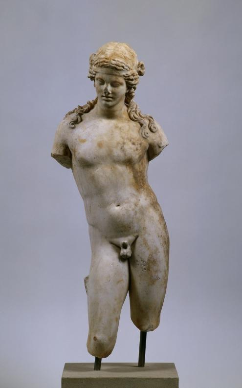 Statuette: youthful Dionysus.  2 - 1st half Century BC.      Fund year: 1871.      Location: Station (basic excavation) (Italy / Rome). © Foto: Antikensammlung der Staatlichen Museen zu Berlin - Preußischer Kulturbesitz